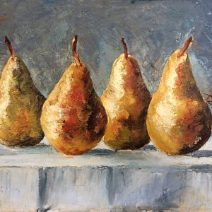 Four pears by Kay Dower