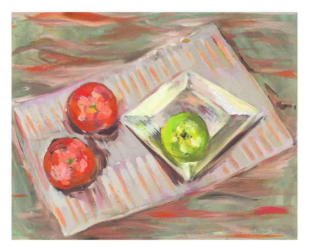 Fruit_On_Plate_By_Kay_Dower