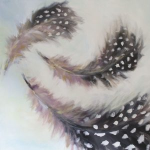 Guinea Fowl Feathers by Kate Pettitt