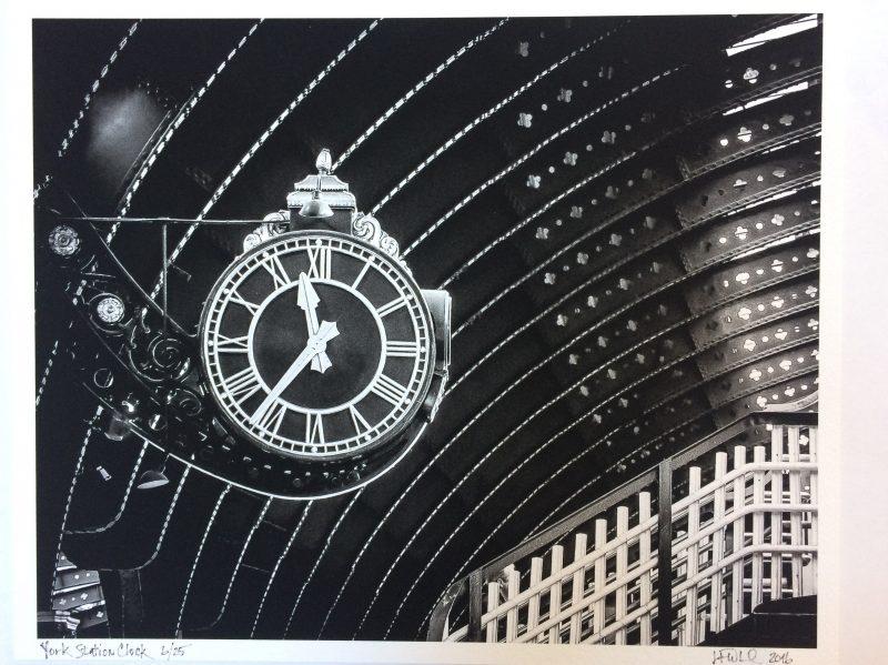York station clock by Julie Whelan