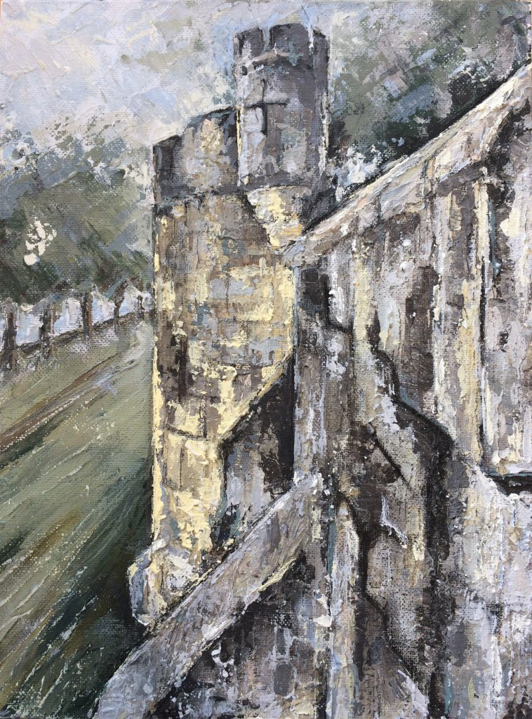 A corner of York walls by Kay Dower