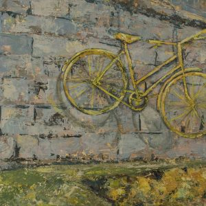 Yellow Bike York Wall by Kay Dower