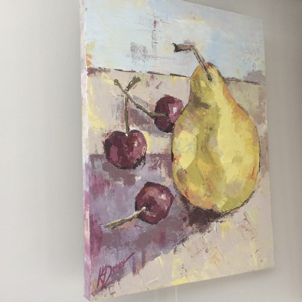 three cherries one pear by Kay Dower